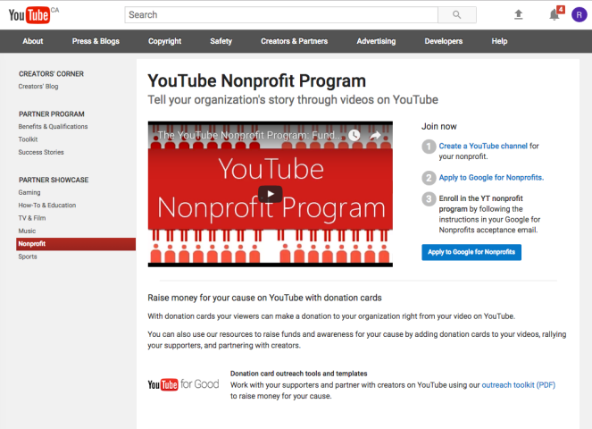 youtube for nonprofits 2